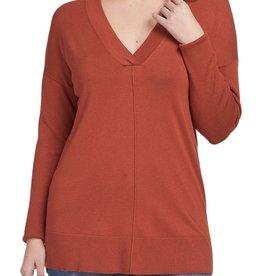 Tribal Long sleeve V neck sweater 4654O