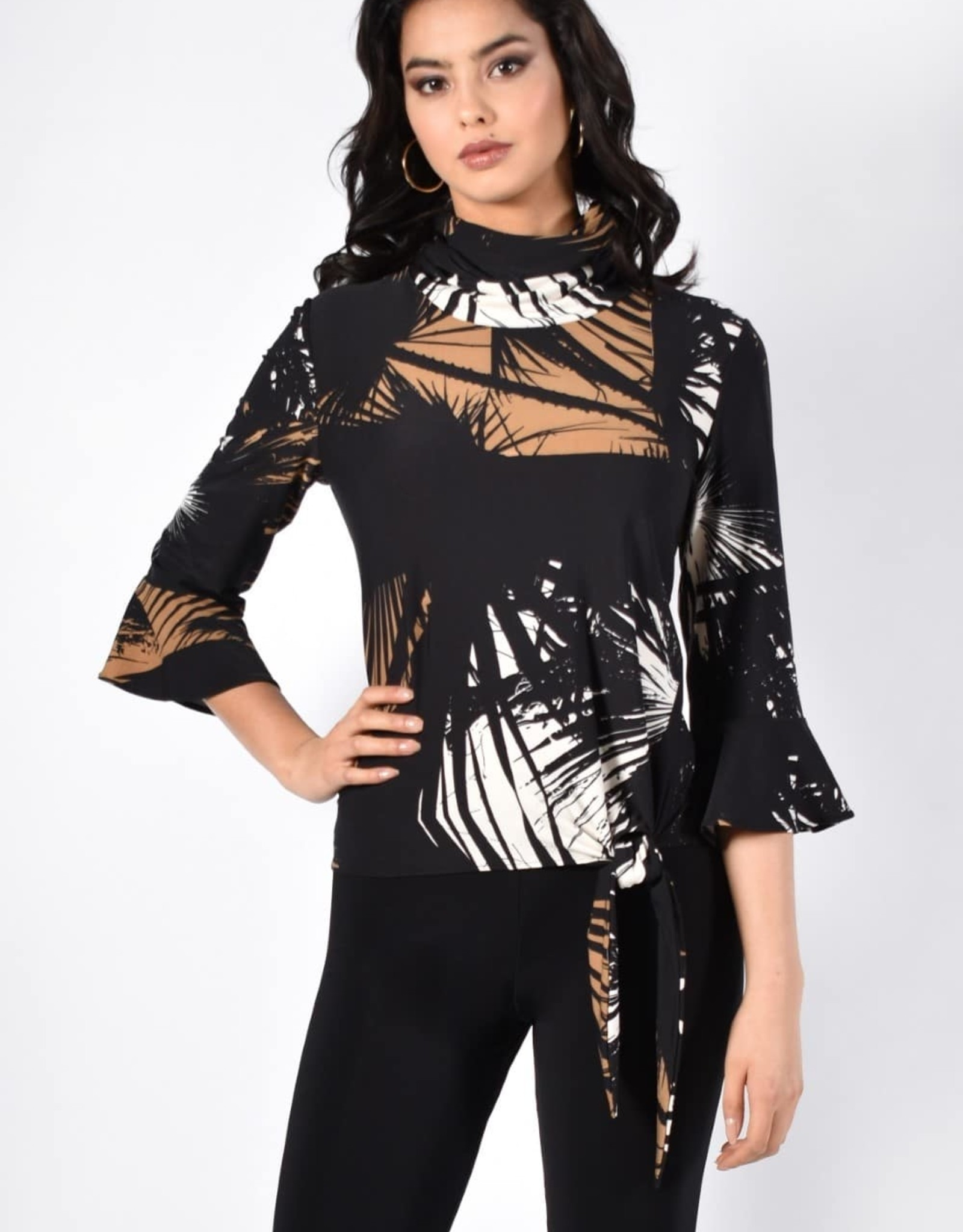 Frank Lyman Printed knit top with cowl neck 213484