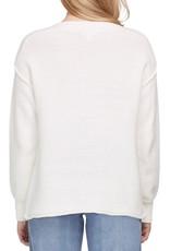 Tribal Boat Neck Sweater w/ Side Zip 7168O
