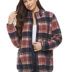 French Dressing Jeans FDJ Plaid Fleece Jacket 1854463