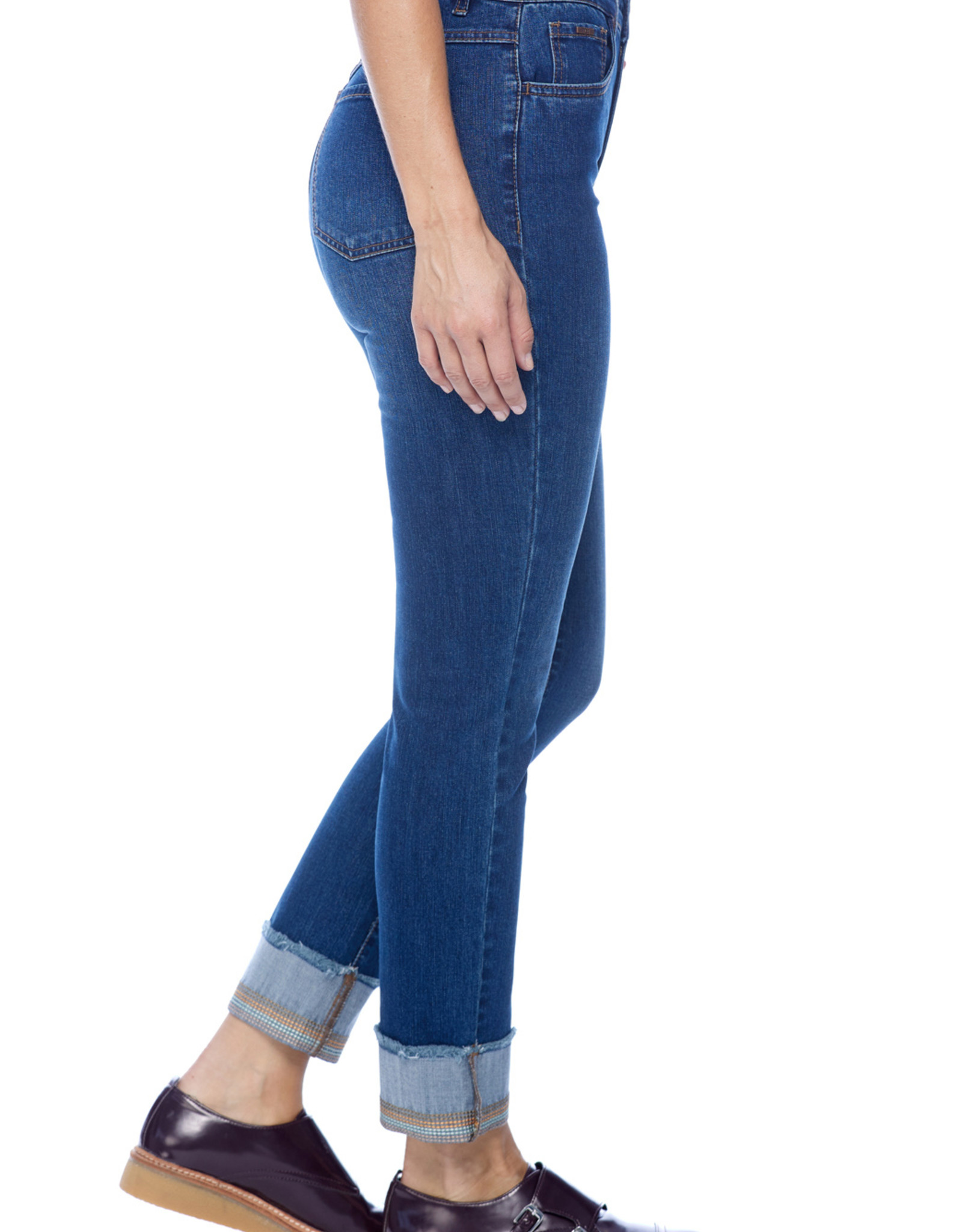 French Dressing Jeans FDJ, Suzanne cigarette ankle w/ embroidery ,6000779