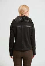 Joseph Ribkoff Ladies biker jacket w/ faux fur trim 213955