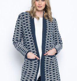 Picadilly Picadilly, Open Front Long Jacket W/ Pockets, RK576MK