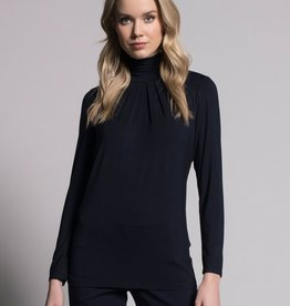 Picadilly Picadilly, Pleated Mock Neck Top, QR157