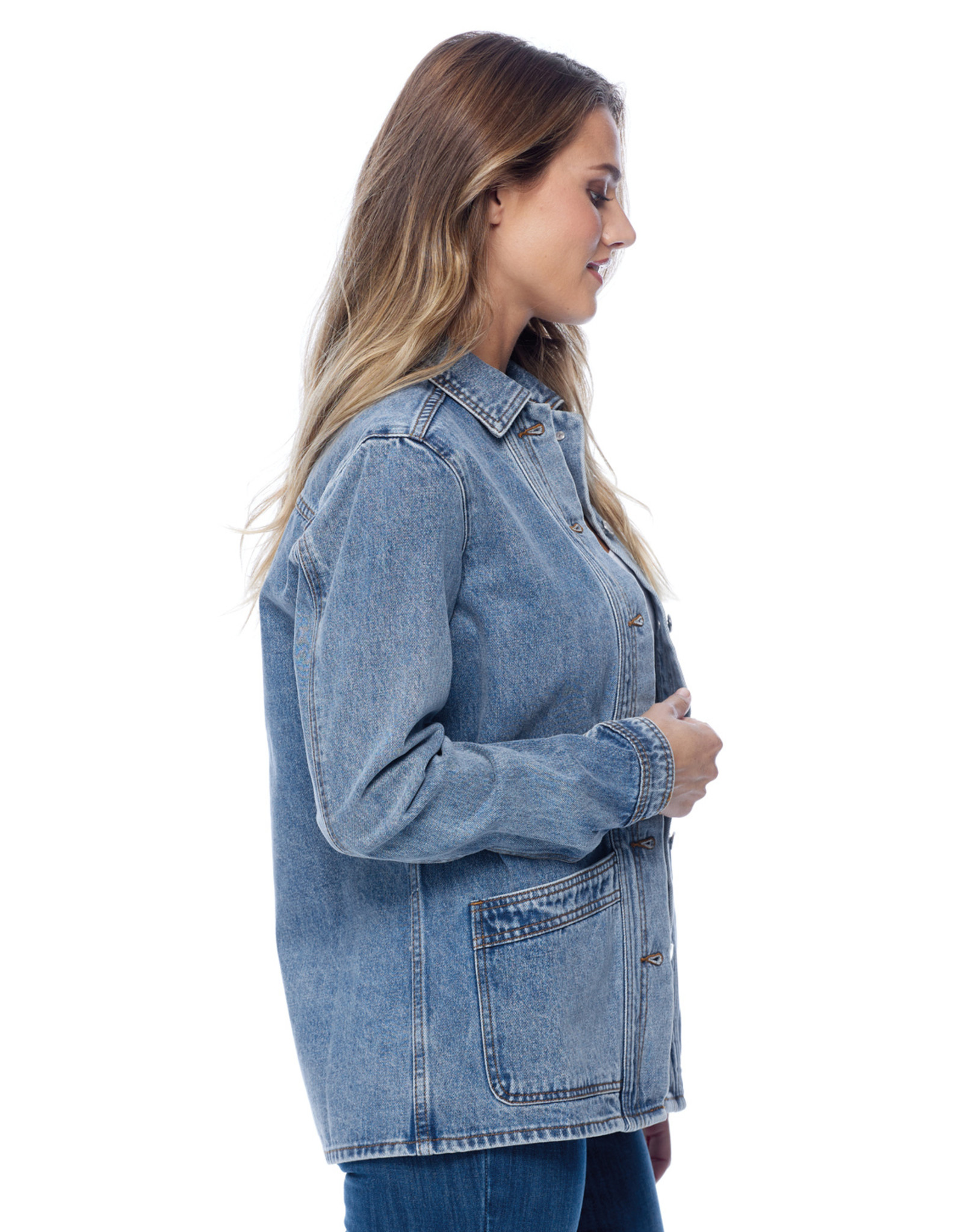 French Dressing Jeans FDJ Denim Artist Smock Jacket 1911585
