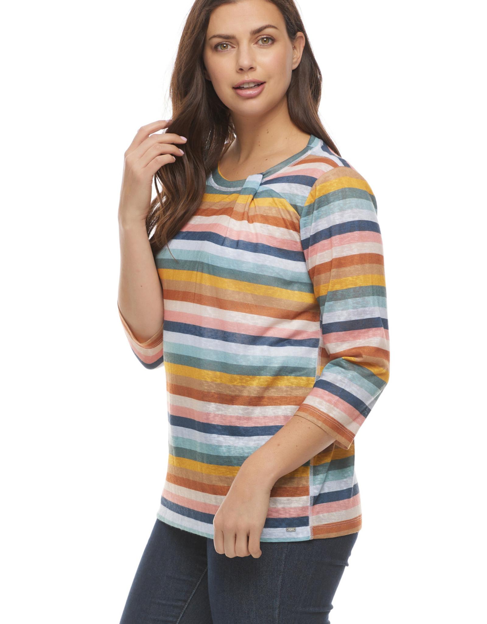 French Dressing Jeans FDJ Neck Twist Knit Top 1989451