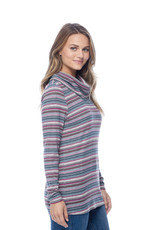 French Dressing Jeans FDJ Cowl Neck Long Sleeve Top 1018273