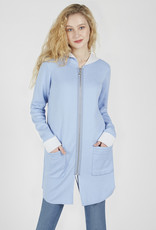 Renuar Renuar R6770 Long Zip Up Sweater with a Hood