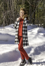 Pure Essence Pure Essence 409-7008 Plaid Jacket With Pockets and Hood Made In Canada