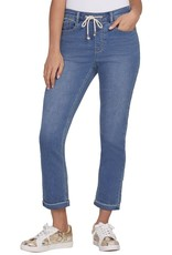 Tribal Tribal 7159O Audrey Mid Rise Straight Ankle Pull On Denim Jogger