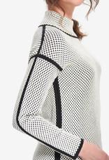 Joseph Ribkoff Ladies mock neck sweater with black piping 214928