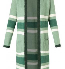 Yest Yest 2306 Adella Essential Long Striped Cardigan