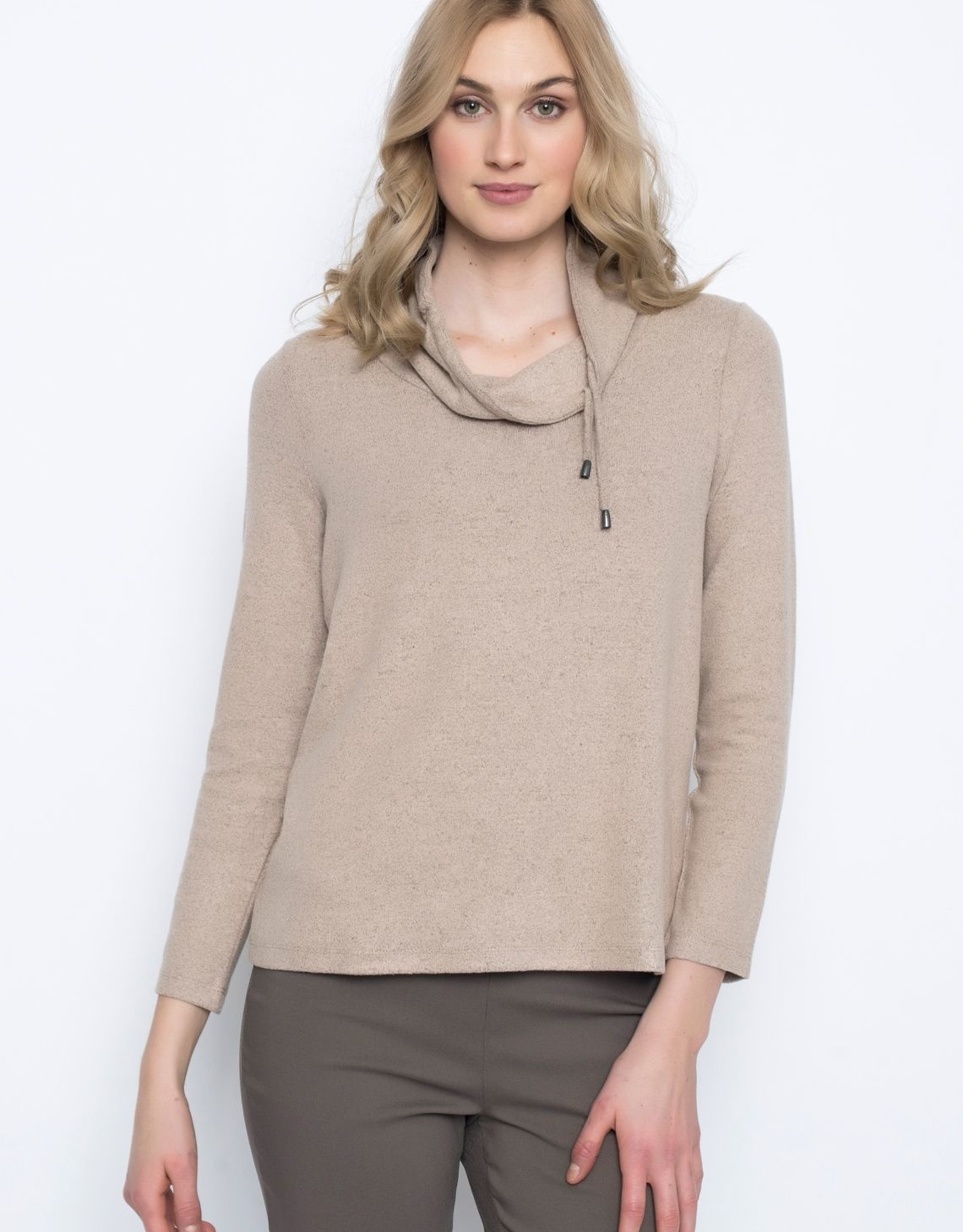 Picadilly Picadilly RC772 Drawstring Neck Long Sleeve Top
