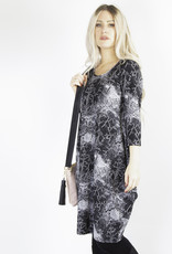 Pure Essence Pure Essence 408-5005 Round Neckline Dress with 3/4 Sleeves Made in Canada