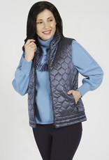 Renuar Renuar R3755 Zip Up Woven Vest with Zippered Pockets