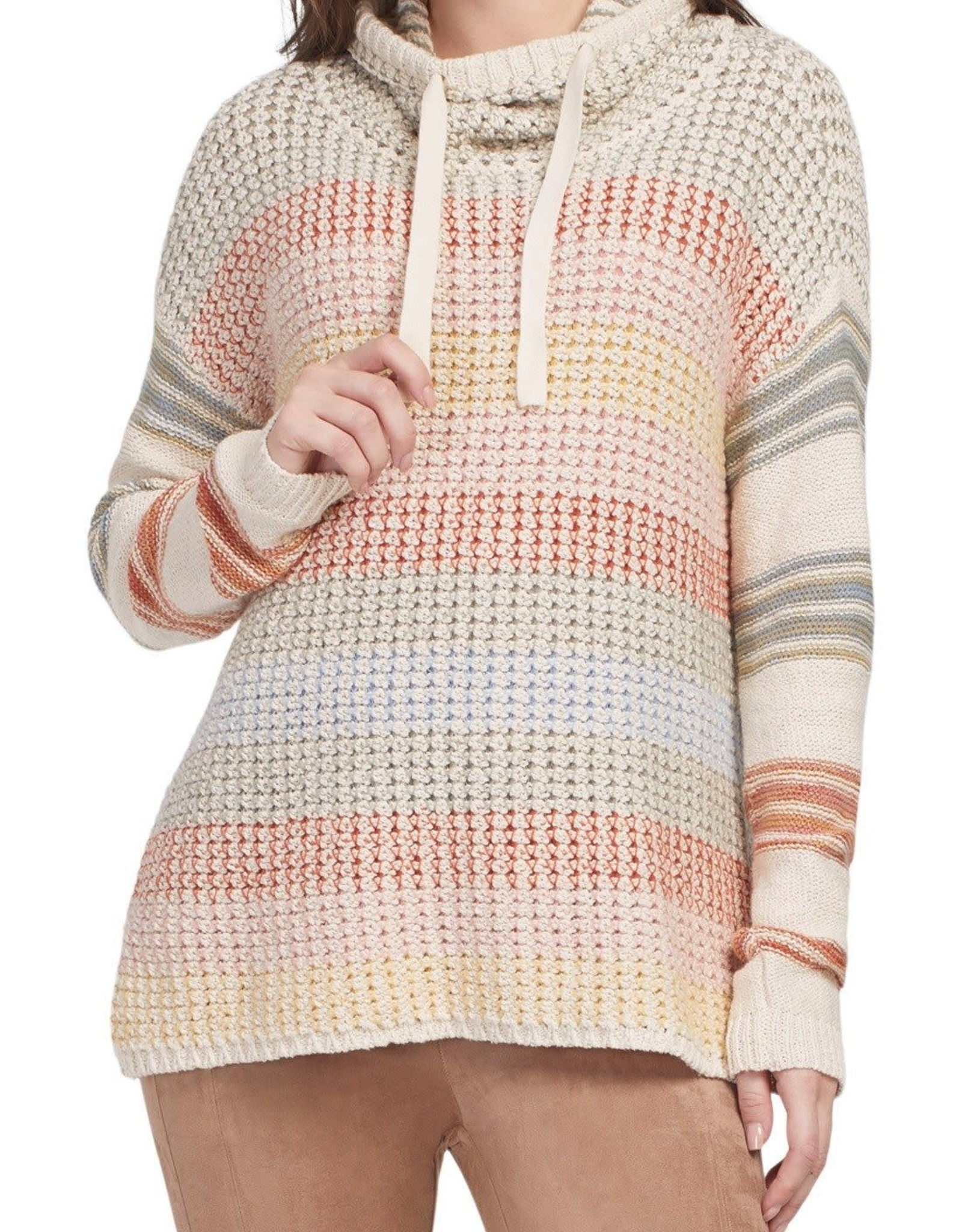 Tribal Tribal 4648O Long Sleeve Drop Shoulder Sweater With Cowl Neck