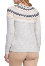 Tribal Tribal 4730O Long Sleeve Intarsia Sweater