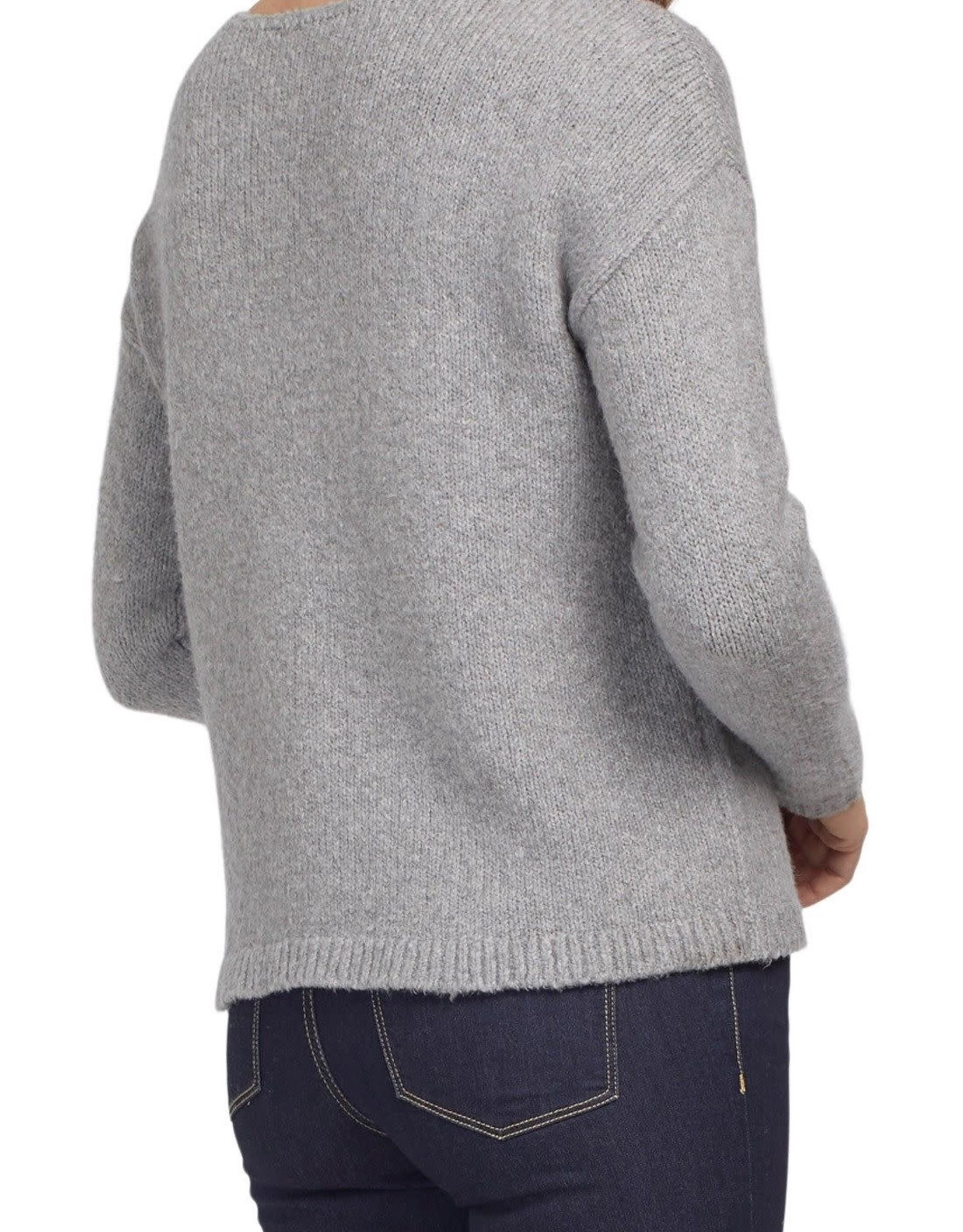 Tribal Tribal 7220O Long Sleeve Intarsia Sweater