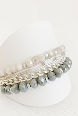 Caracol Caracol 3185 Multi-strand Bracelet with Glass Beads and Chains