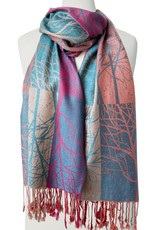 Caracol Caracol 6085 Tree Printed Silky Scarf