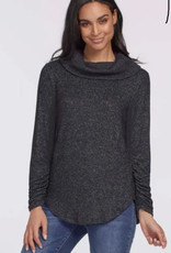 Tribal Tribal cowl neck top with stirring detail