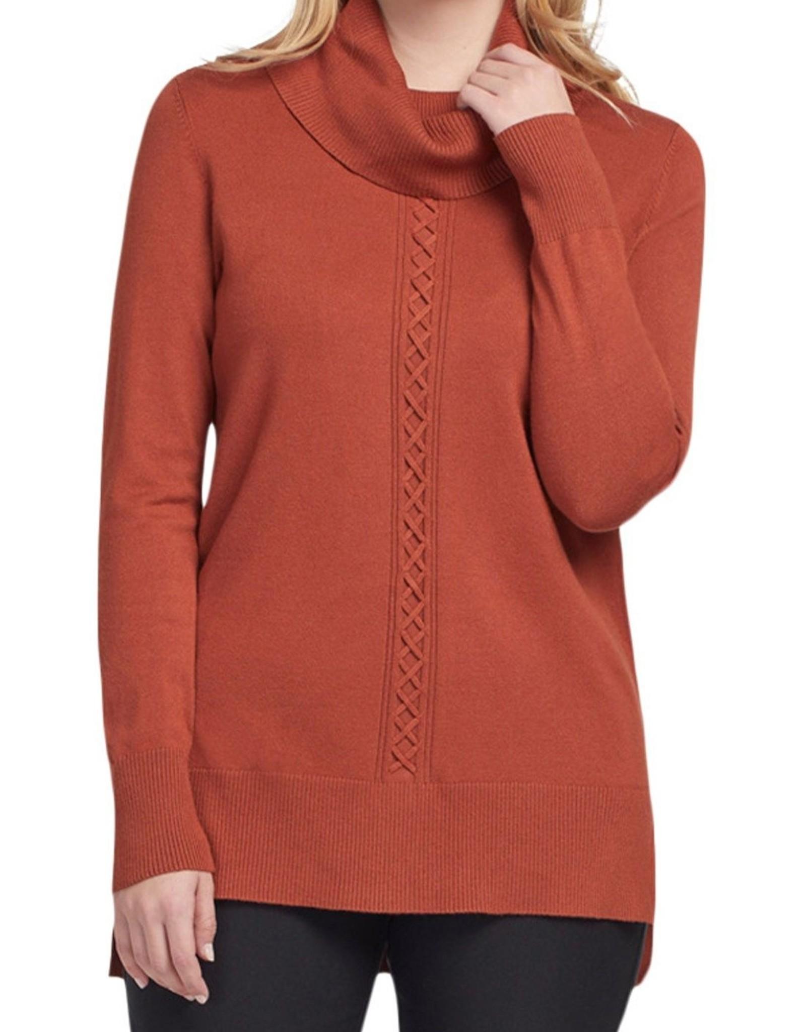 Tribal Tribal Long Sleeve Cowl Neck Sweater 4703O