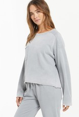 ZSUPPLY Z Supply ZT213876 Ali Washed Top with Raw Hemline and Chest Pocket