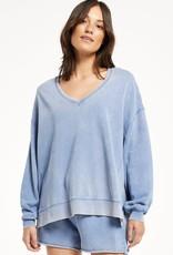 ZSUPPLY Z Supply ZT213117 Washed V Neck Modern Weekender Sweater