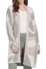 Tribal Tribal 4342O Long Sleeve Intarsia Sweater