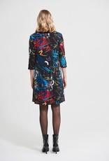 Joseph Ribkoff Joseph Ribkoff Scribble Print  Dress 213677