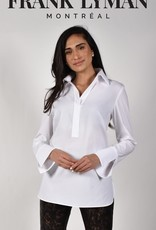 Frank Lyman Frank Lyman 214684 White Pull Over Woven Top with Collar