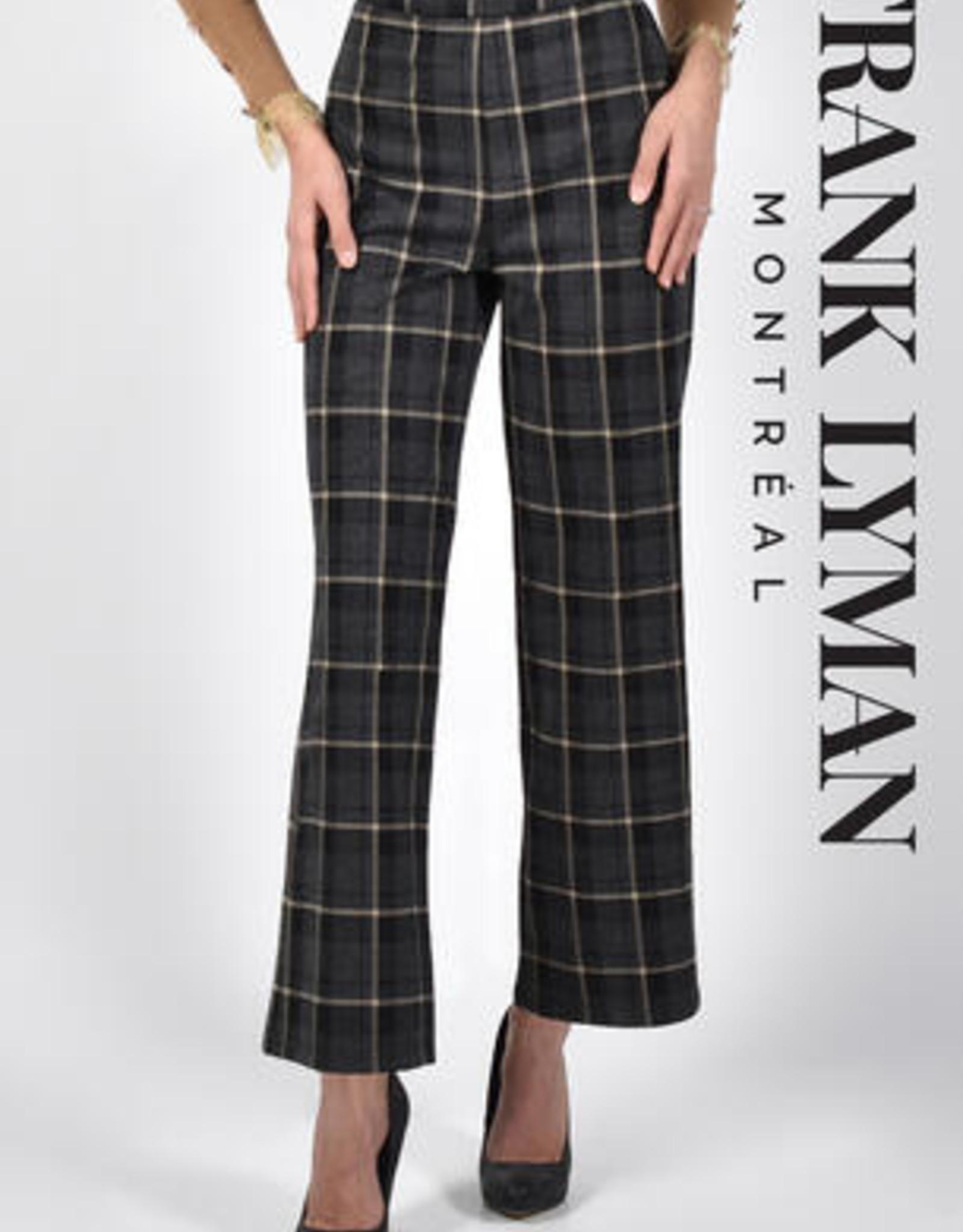 Frank Lyman Frank Lyman 213124U Checkered Woven Straight Leg Pant