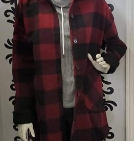 RD Style RD Style Hooded Plaid Woven Coat