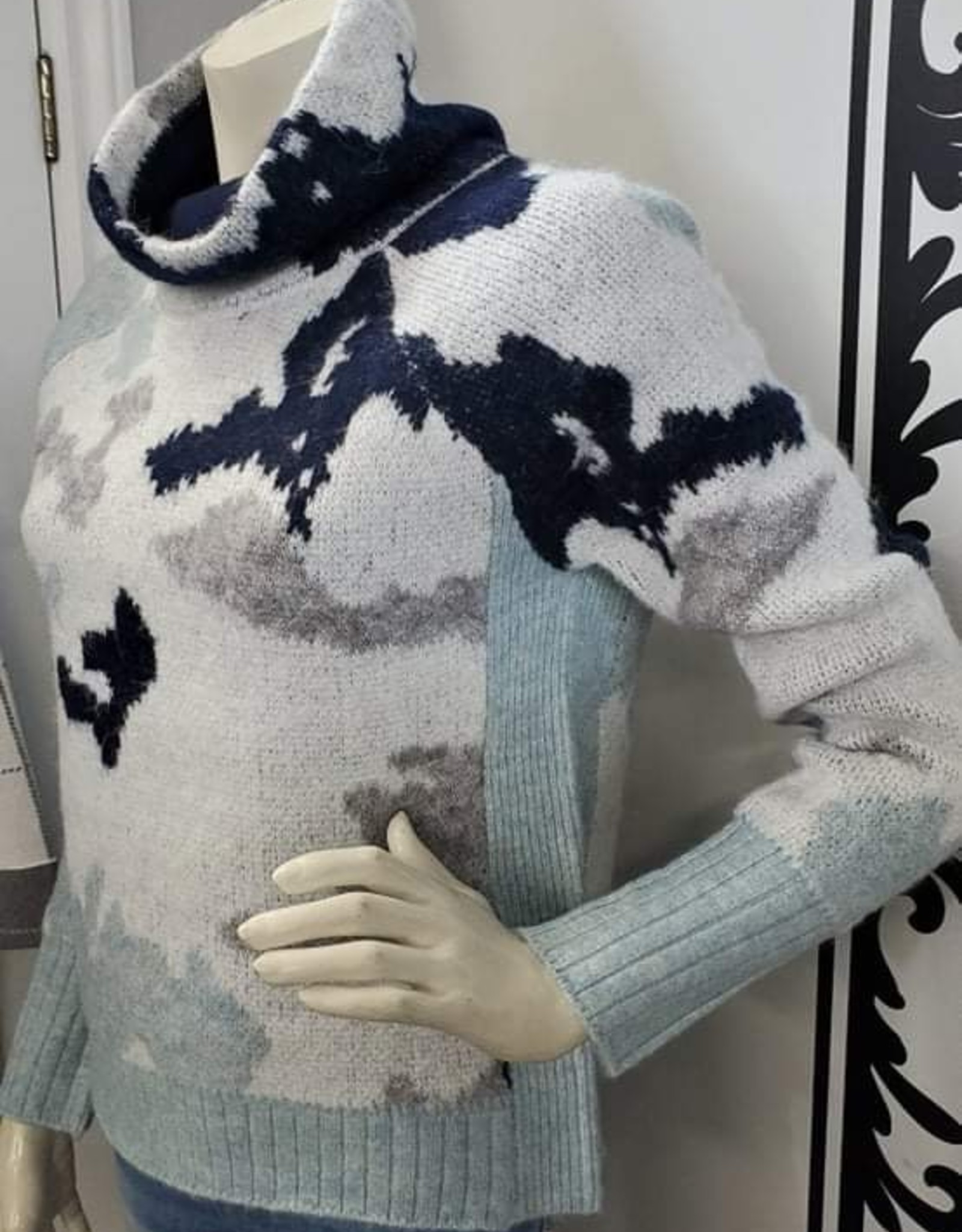 RD Style RD Style 73SR041S Ladies Knit Sweater with Cowl Neck