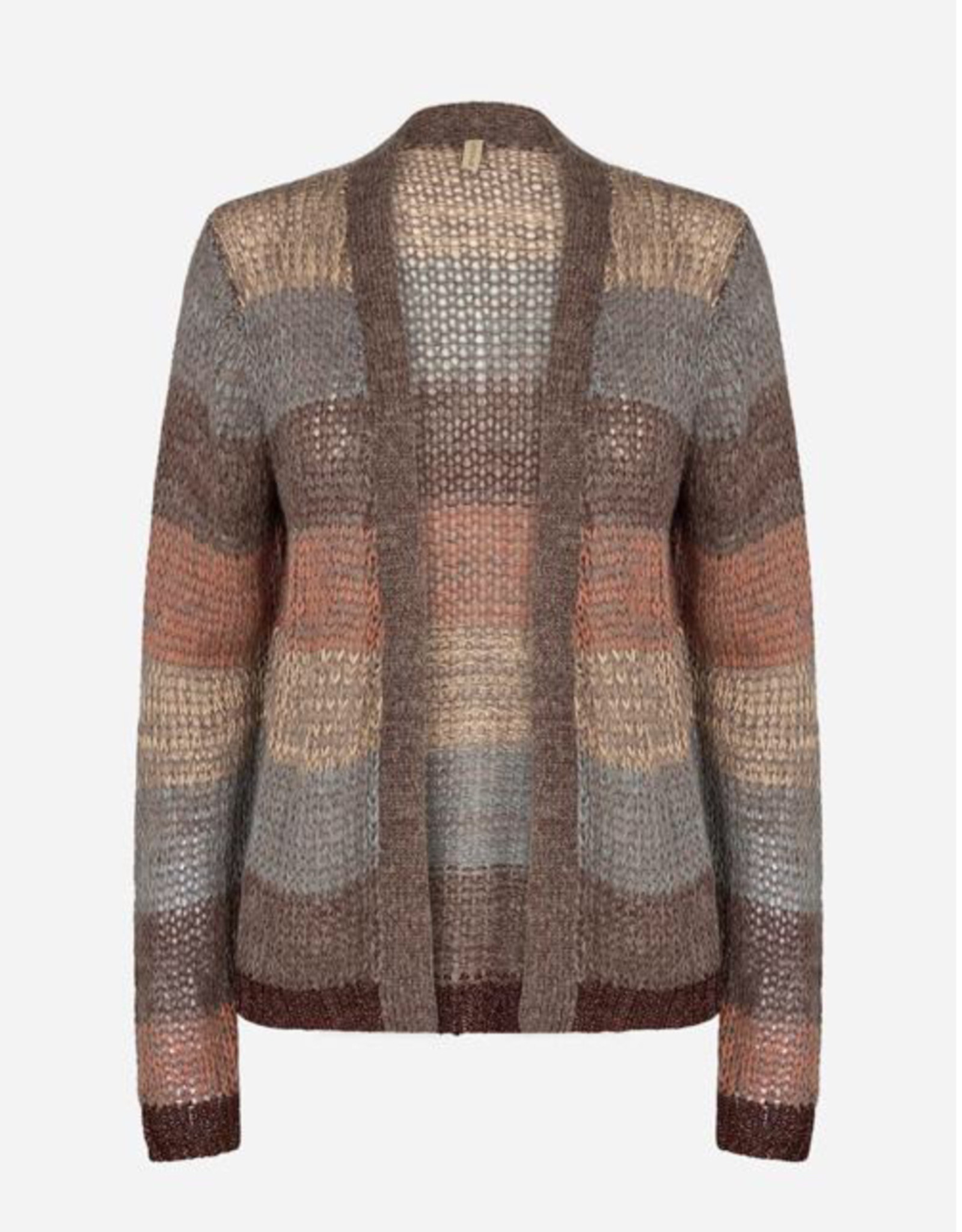 Soya Concept Soya Concept Tini 1 Knitted Mohair Blend Stripped Cardigan Sweater