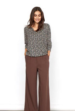 Soya Concept Soya Concept felicity AOP 341 V Neck Top with 3/4 Sleeves and Paisley Print
