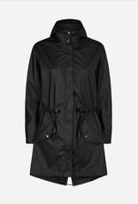 Soya Concept Soya Concept Roxana 1 Long Zip Up Rain Jacket with Hood and Pockets