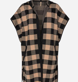 Soya Concept Soya Concept plaid cover up with hood F51011
