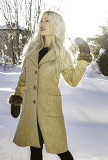Pure Essence Pure Essence 440-7012 Long Button Down Jacket with Pockets