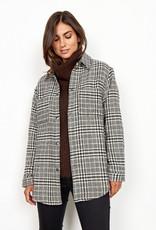 Soya Concept Soya Concept Troya 2 Ladies Woven Plaid Jacket