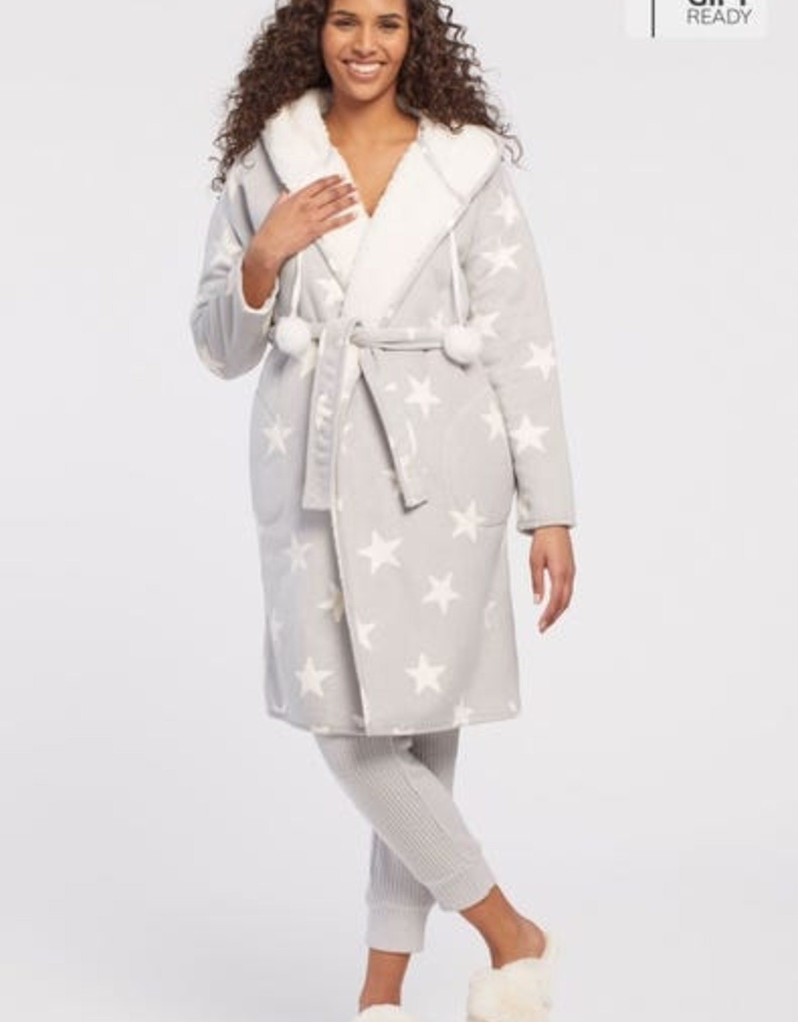 Tribal Tribal 7243O Reversible Robe with Pockets