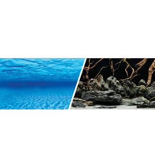 "Marina Marina Double-Sided Aquarium Background - Sea Scape/Natural Mystic - 18""High / Per Foot"