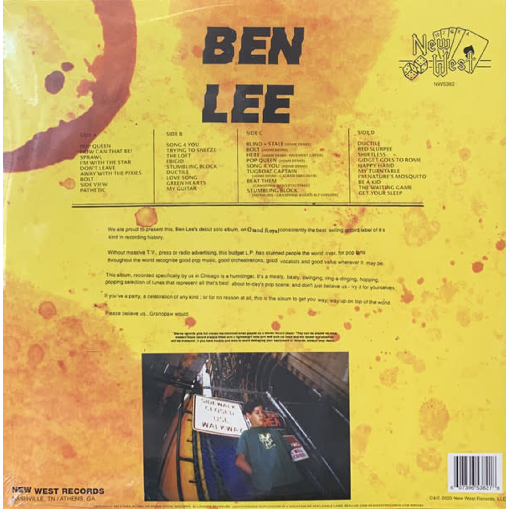 BEN LEE GRANDPAW WOULD (25TH ANNIVERSARY DELUXE EDITION) (BIRTHDAY CAKE VINYL)