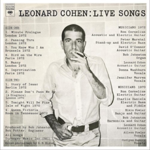 LEONARD COHEN LEONARD COHEN: LIVE SONGS