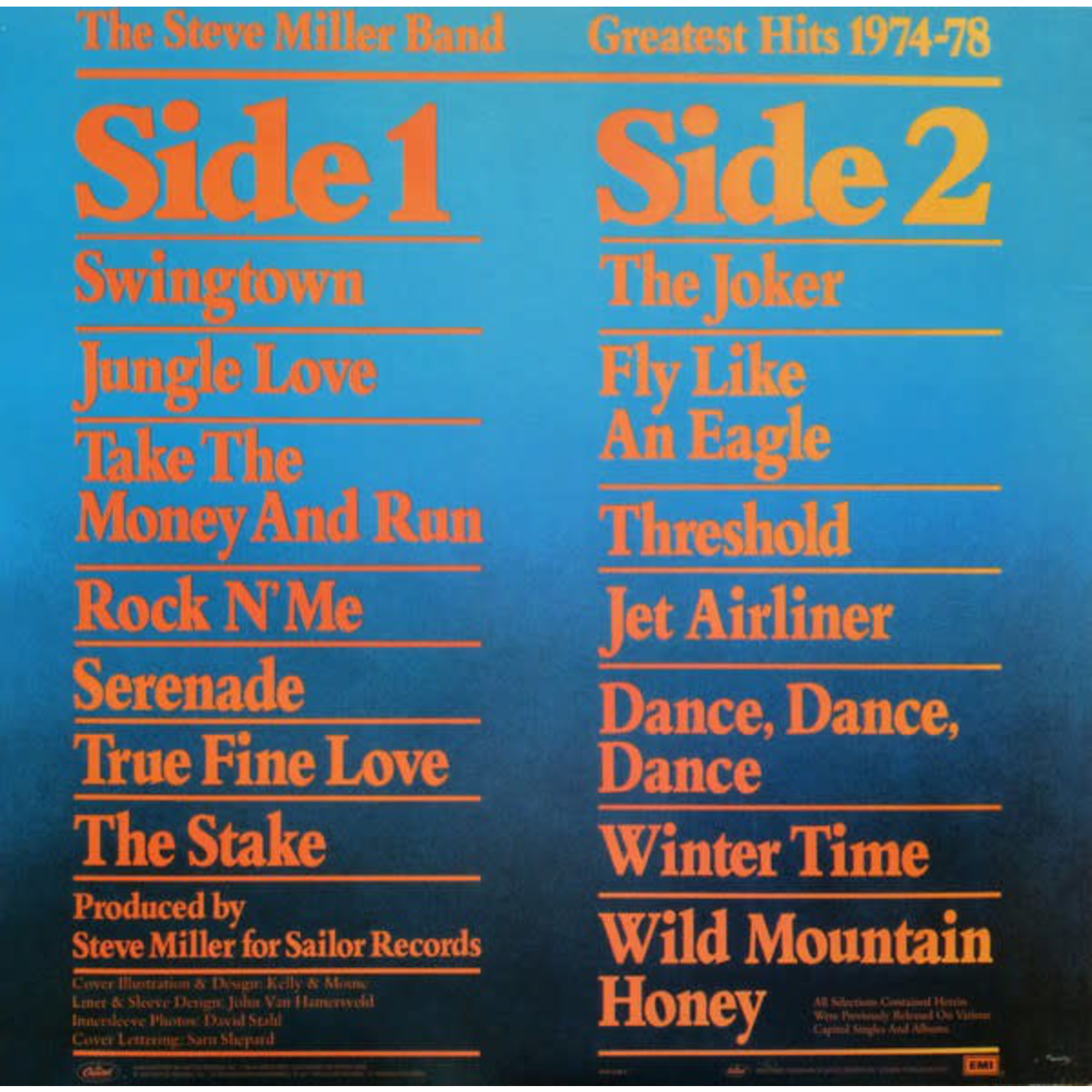 STEVE MILLER BAND GREATEST HITS 1974-78 (LIMITED EDITION)