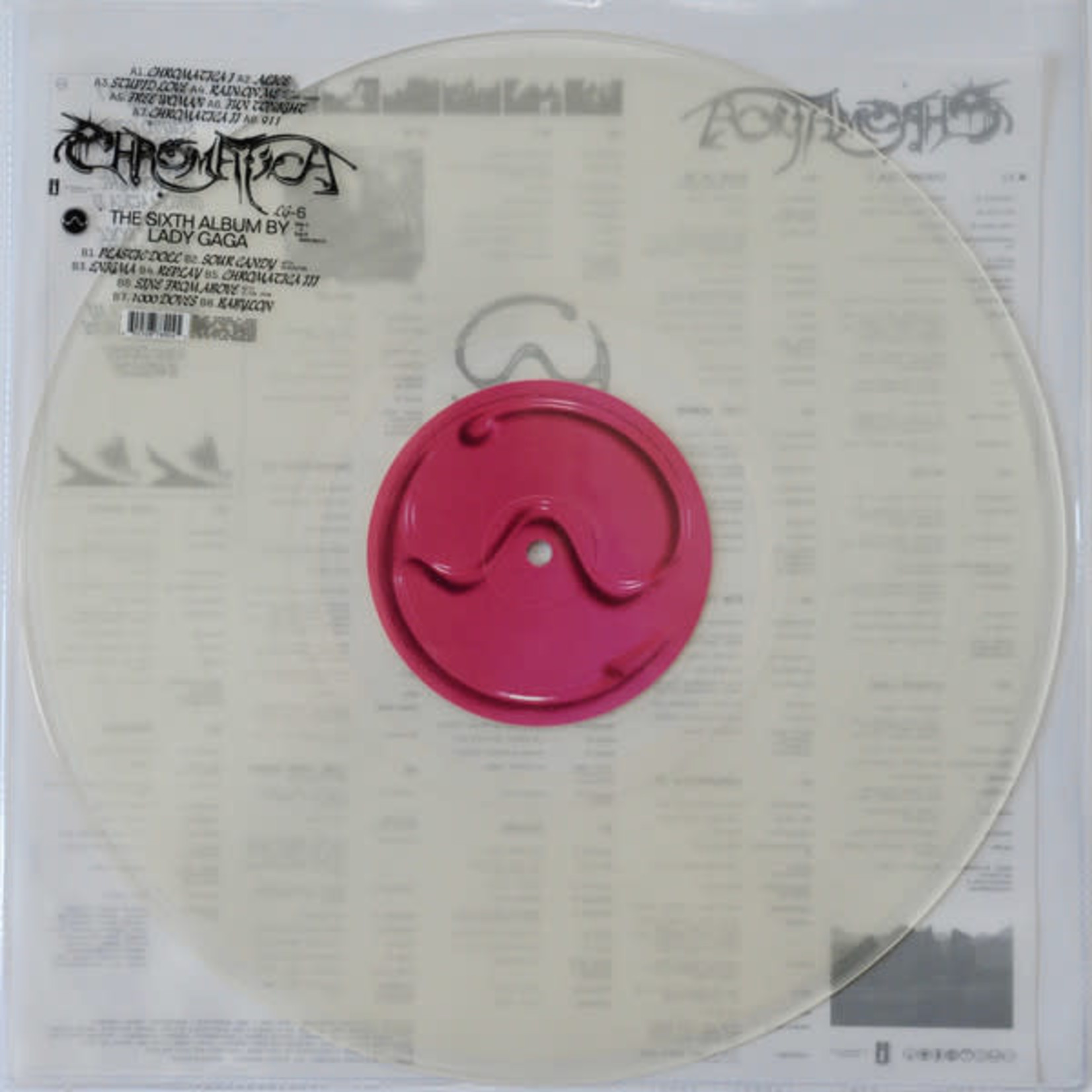 LADY GAGA CHROMATICA  CLEAR VINYL LP