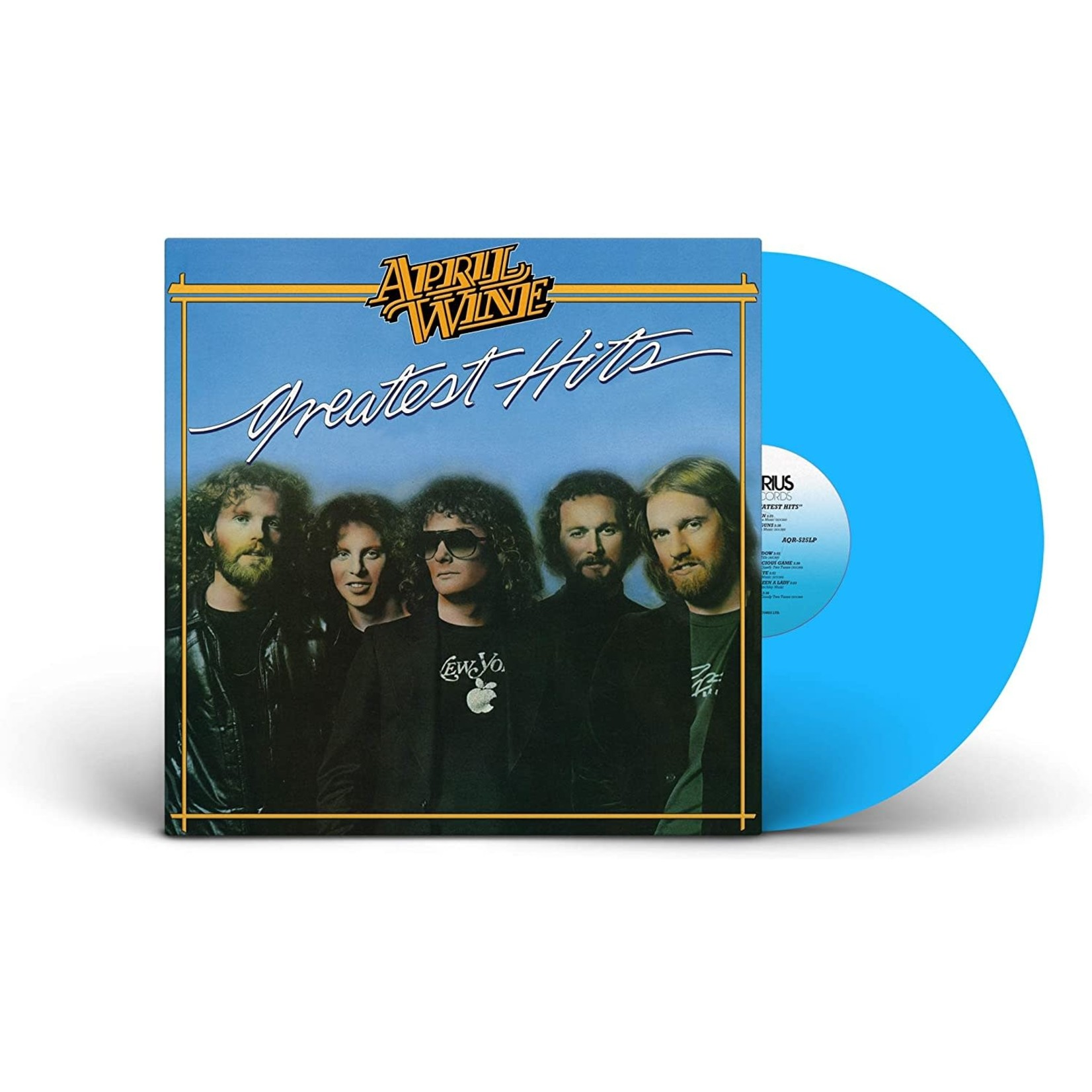 APRIL WINE GREATEST HITS   OPAQUE BLUE VINYL LP