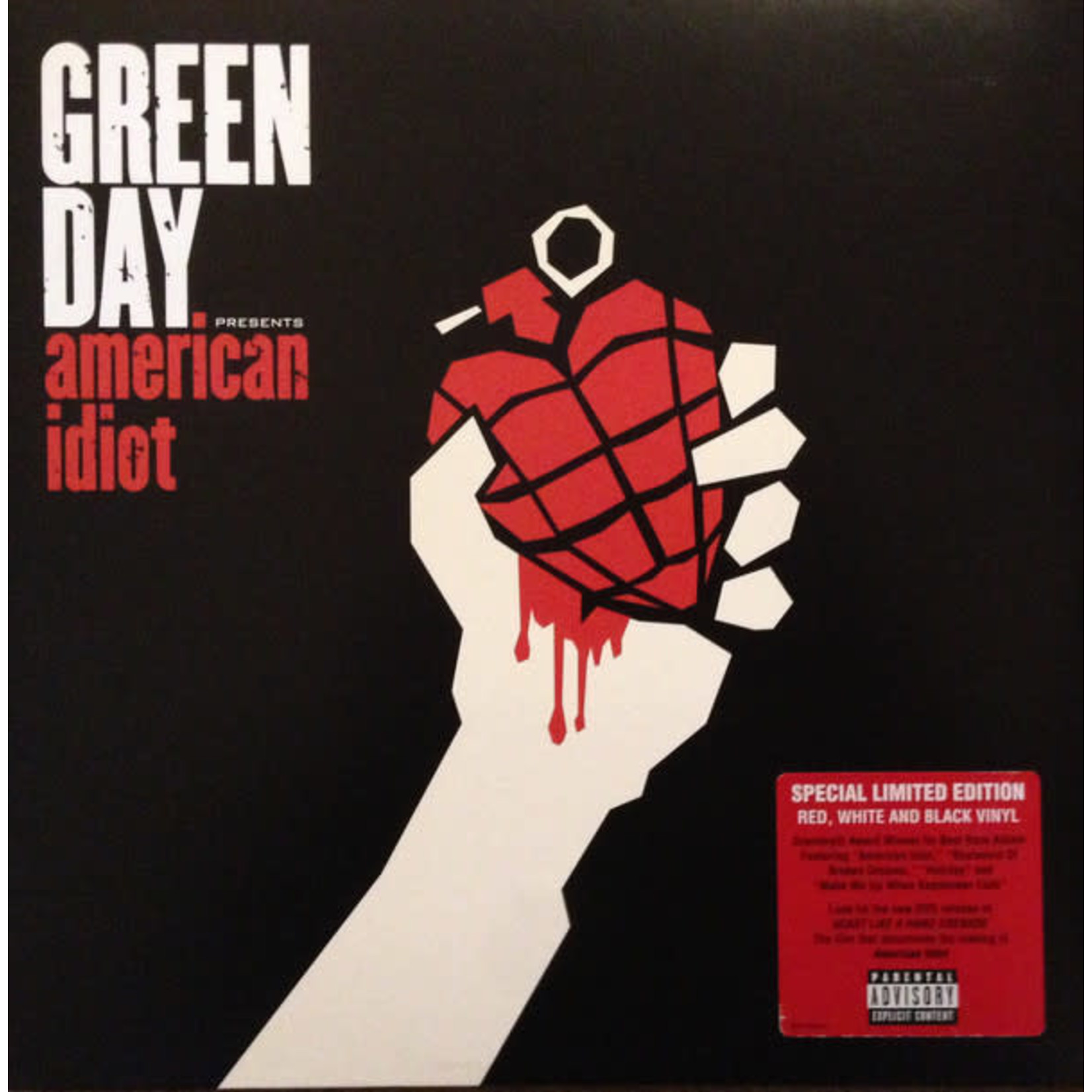 GREEN DAY AMERICAN IDIOT  RED/WHITE VINYL