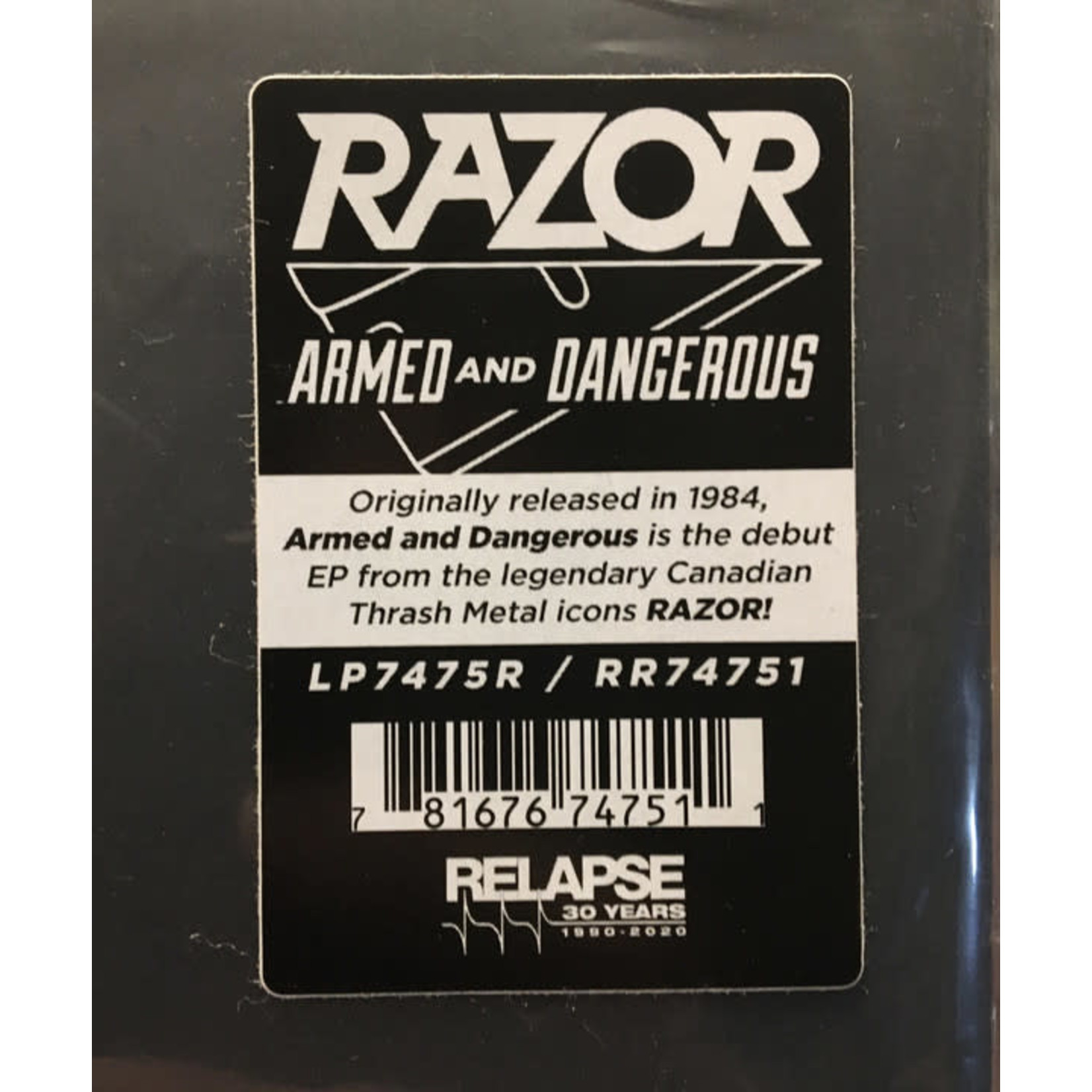 RAZOR ARMED AND DANGEROUS (REISSUE)