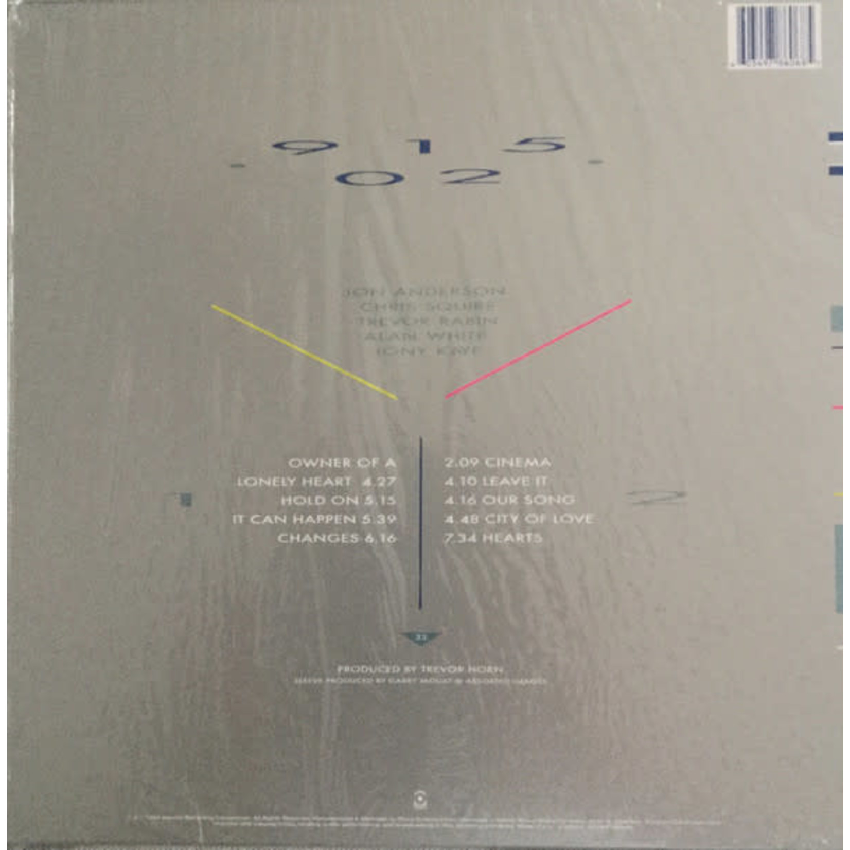 YES 90125 (35th ANNIVERSARY TRI-COLOR VINYL EDITION)